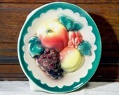 Royal Copley Fruity Wall Pocket Vase For Your Mid Century Bungalow Kitchen