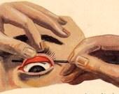 Eye Disease Human Anatomy Lithograph Medical Chart Having A Bad Eye Day 1920s