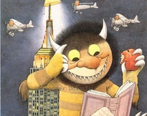 New York Is Book Country Vintage Maurice Sendak Nursery Poster To Frame