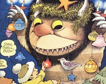 Wild Thing Hanukkah Christmas Celebration Maurice Sendak Original Children's Nursery Poster To Frame