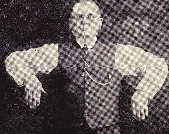 Vintage Health Fitness Chubby Guy Demonstrates Proper Breathing 1908 Edwardian Illustration To Frame