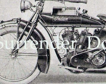 Indian Motorcycles 1920s Transportation Print All The Rage In The Roaring Twenties