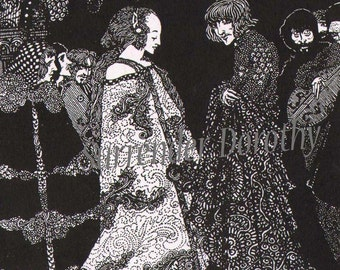 The Marchesa Aphrodite By Harry Clarke 1933 Edgar Allan Poe Vintage Illustration