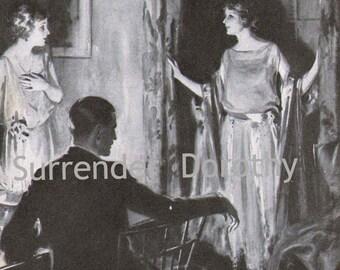 Mr. Channing Is Here H R Ballinger Vintage Fashion Roaring Twenties Illustation To Frame