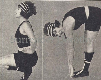 Fitness For Flapper Women Sweatin' To The Oldies In 1923 Ladies Gym Fashions