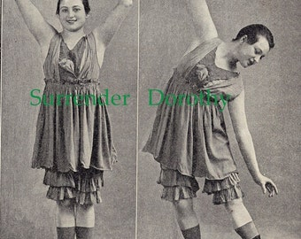 Flapper Girl In Bloomers 1922 Ladies Stretching Exercises Roaring Twenties Fitness To Frame