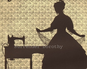 Sewing Machine Electricity Advertisement 1926 Vintage Lithograph To Frame
