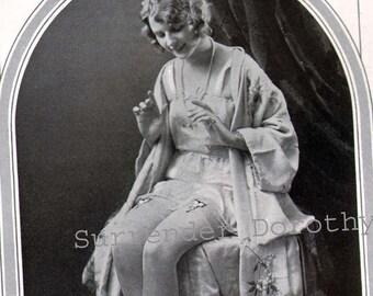 Gripmor Garters Flapper Fashions Advertisement Art Deco Roaring Twenties Lingerie Lithograph To Frame