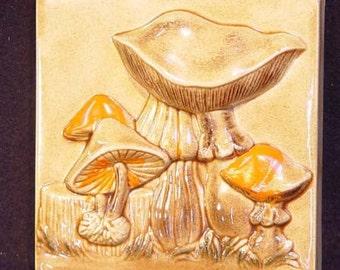 Mushroom Plaque For Your Groovy Vintage Seventies Retro Kitchen