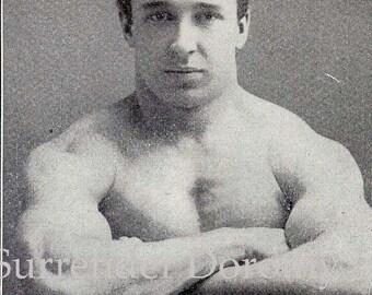 Male Bodybuilders 1908 Edwardian Vintage Fitness Rotogravure Those Two Hottie Boys Next Door Black & White Photo Print
