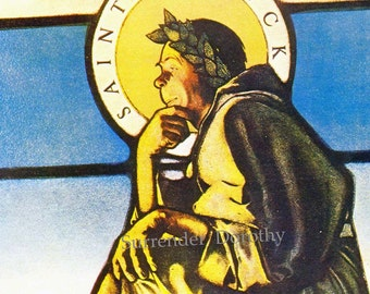 St. Patrick Seated by Maxfield Parrish Life Magazine Cover Art Nouveau Poster Print Patron Saint Of Ireland To Frame