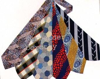 Men's Silk Neckties Cravats Gentleman Fashion Poster 1927 Vintage Color Advertisement Lithograph To Frame