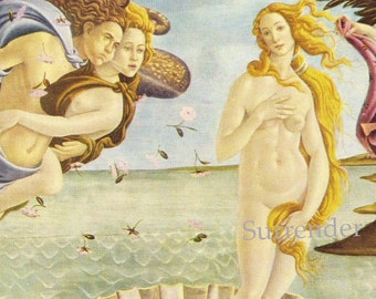 Birth Of Venus by Sandro Botticelli 1480 Renaissance Art Masters Color Lithograph Poster To Frame