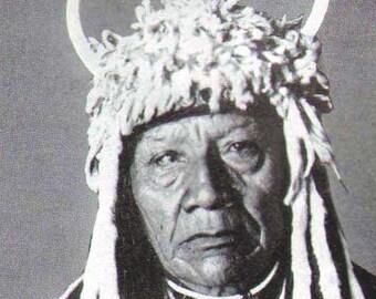 Flathead Kinugumiut Yakima & Wasco Native American First People Vintage Rotogravure 1920s Print To Frame