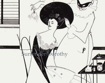 Solome For Oscar Wilde Victorian Fashion Vintage Drawing Aubrey Beardsley 1893