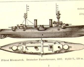 Battleship Cruisers Chart  Navy Ships 1887 Victorian Vintage Maritime Military Engraving For Framing