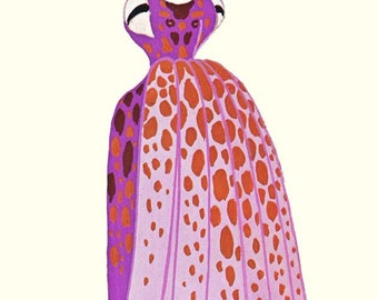 Octopus Costume By Erte' Theatrical Costume Fashion Illustration To Frame 1940s