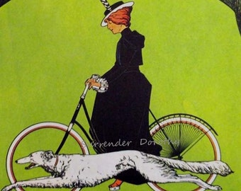Victoria Bicycles Advertisement 1910 Edwardian Art Deco Lithograph Poster Ad To Frame