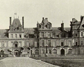 Royal Palace Fontainbleau France Victorian Architecture 1890 Rotogravure Photo Illustration To Frame