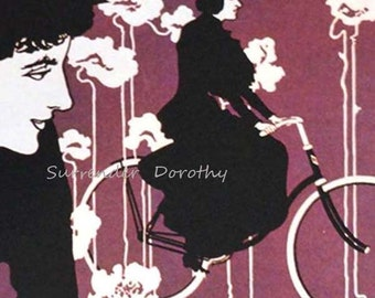 Victor Bicycles Will Bradley Art Nouveau 1896 Lithograph Poster Vintage Transportation Ad To Frame