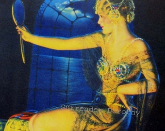 Jewels Blonde Bombshell Sultry Pinup Poster Print American Girl 1920s Billy DeVorss Classic Cheesecake Man-Cave Art