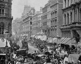 Cheapside London England 1890 Vintage Photo Print Original Victorian Rotogravure Illustration To Frame