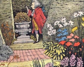Mozart In the Garden Maurice Sendak Children's Nursery Poster To Frame