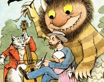 Horn Book Magazine Maurice Sendak Wild Thing Vintage Original Children's Nursery Poster To Frame