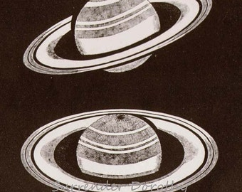 Saturn's Rings Victorian Astronomy 1892  Natural History Solar System Engraving To Frame