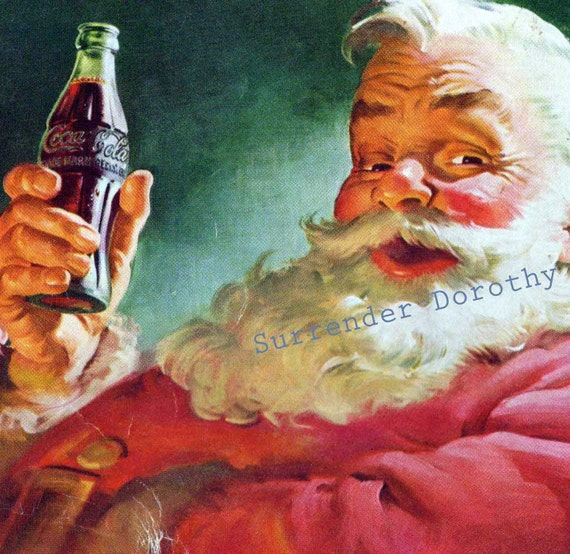 1952 Santa Suggests Coke Vintage Coca Cola Advertisement  Classic 1950s Ad To Frame
