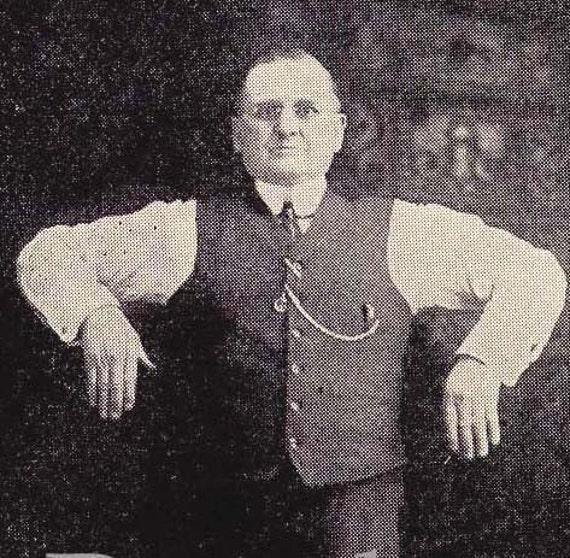 Vintage Health Fitness Chubby Guy Demonstrates Proper Breathing 1908 Edwardian Illustration To Frame