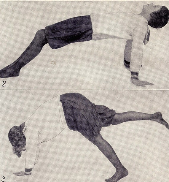 Silly Fitness For Women 1918 Vintage Rotogravure To Frame For Your Workout Room