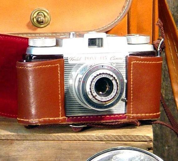 Kodak Pony 35mm Camera, Weston Lightmeter Carry Case Lots Of Other Vintage Photographer's Gear