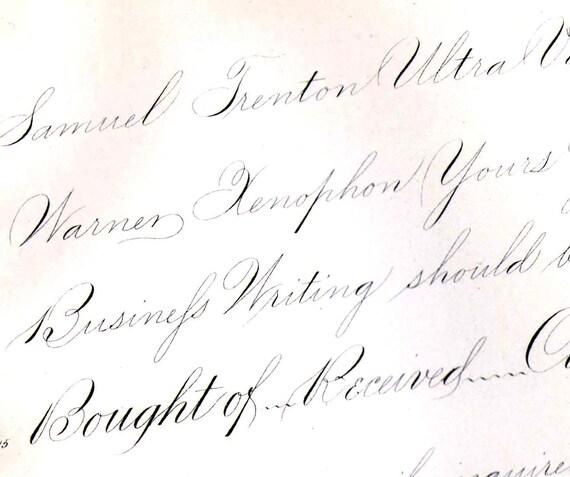 Palmer Method Ornamental Penmanship 1886 Victorian Calligraphy