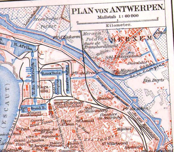 Antwerp Belgium Surrounding Area Map 1906 by SurrenderDorothy – Map of Belgium and Surrounding Areas