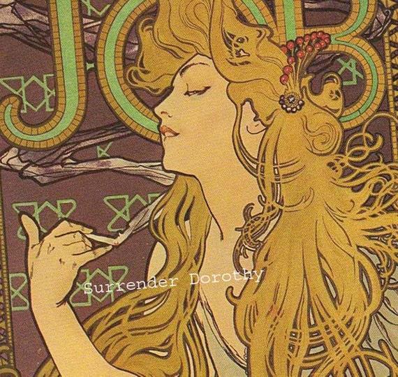Alfons Mucha Job Cigarettes Belle Epoque Ad Victorian Color
