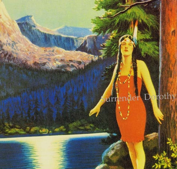 Native Love: Indian Love Call Native American Maiden Pinup Girl Poster