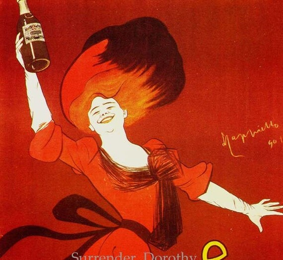 Absinthe Ducros Fils Redhead In Red Leonetto Cappiello Paris France Vintage Edwardian Advertisement 1902 Lithograph Poster To Frame