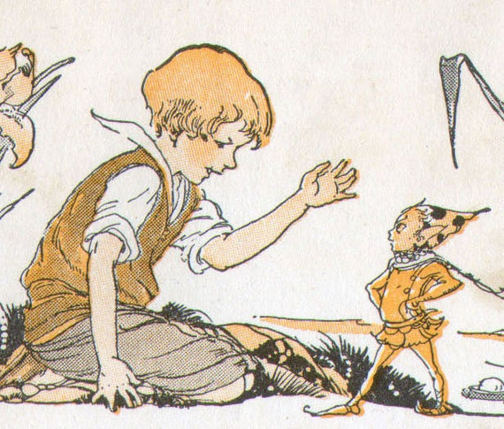 Fairy Tale Vintage Children's Nursery Prints Snippet Packet For Collage 1920s By Maginel Wright Enwright