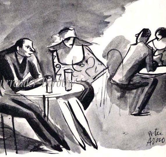 Speakeasy Peter Arno Cartoon Poster Roaring Twenties