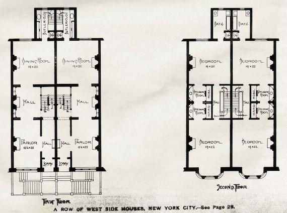 Wonderful Victorian Row House Plans Gallery Ideas house design