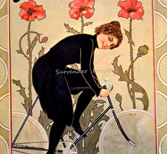 Naumann's Rader Bicycle 1904 Art Nouveau Lithograph Poster Transportation Ad To Frame