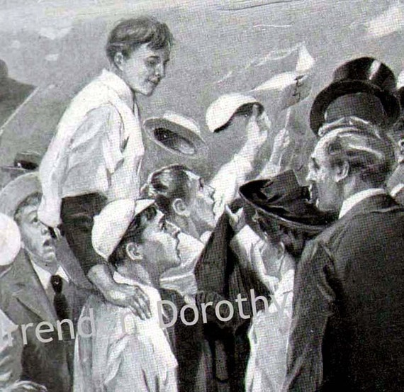 Baseball Hero's Welcome Charles Relyea Edwardian Era Illustration Vintage Sports Art To Frame