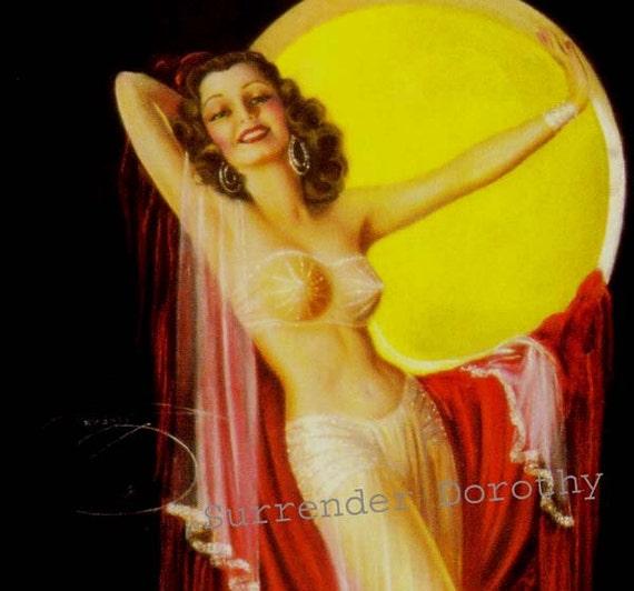 Brunette Bombshell Pinup Poster Print American Wartime 1940s Billy DeVorss Classic Cheesecake Man-Cave Art
