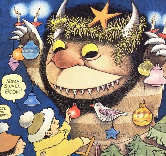 Wild Thing Hanukkah Christmas Celebration Maurice Sendak Original Children's Nursery Poster To Frame