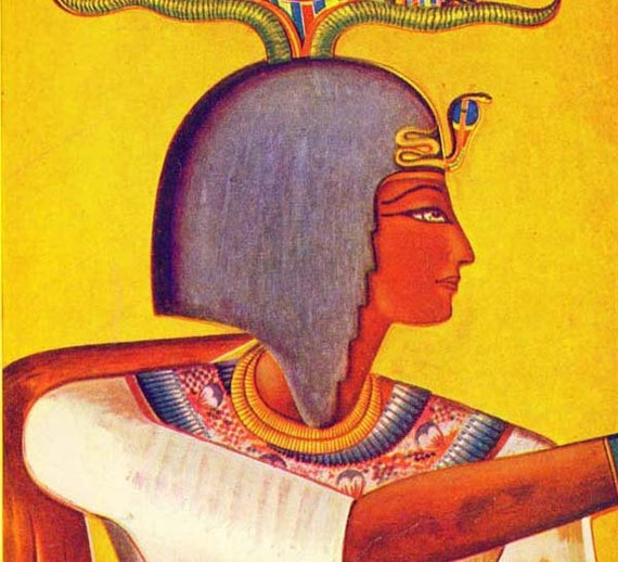 King Siphtah Egyptian Ancient History Lithograph Chart 1920s Art For Framing