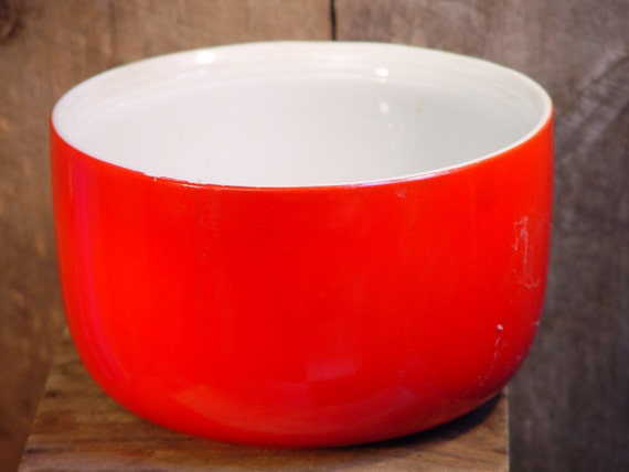 Hall S Superior Quality Mixing Bowl Chinese Red Big Nine