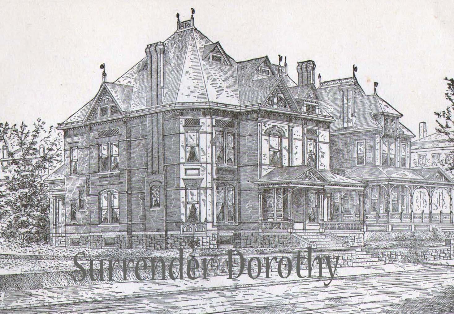 Gothic brick dwelling plans antique victorian architecture for Vintage victorian house plans