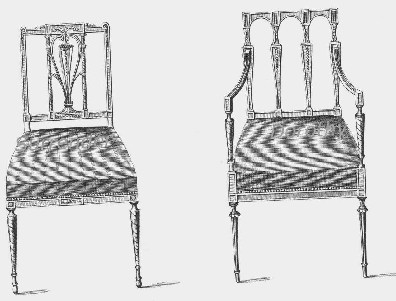 Sheraton Style Furniture Parlour Chairs Thomas Sheraton Technical by SurrenderDorothy