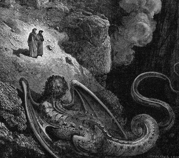 Gustave Dore Geryon Symbol Of Deceit Inferno Canto 17 Vintage